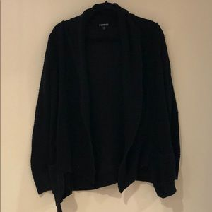 Express black cardigan shawl long sleeve